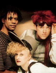 Thompson Twins were a British music group that formed in April Initially a new wave group, they switched to a more mainstream pop sound and achieved considerable popularity in the scoring a string of hits in the United Kingdom, the United Thompson Twins, Musician, New Wave Music, 80s Music, 1980s Music, Music, Good Music, My Favorite Music, Singer