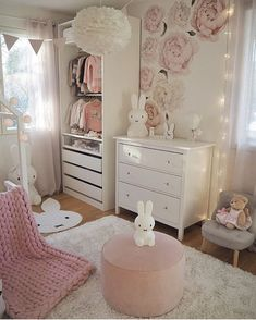 Nursery Wall Decals and Removable Wallpaper for your home, office and nursery. Just peel and stick to the wall. Our wall decals are also perfect for kids rooms. Baby Girl Room Decor, Baby Room Design, Baby Bedroom, Nursery Wall Decals, Nursery Room, Girls Princess Room, Cool Kids Bedrooms, Baby Furniture, Kids Room