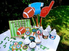 Football Party the saying on the invite Football Party Games, Football Banquet, Football Crafts, Football Fever, Football Wedding, Football Birthday, Birthday Bash, Tutu Party, Party Props
