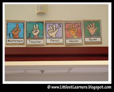 Hand signals that can make classroom management easier. Classroom Procedures, Classroom Behavior, Future Classroom, School Classroom, Classroom Ideas, Preschool Behavior, Classroom Signs, Organization And Management, Classroom Organization