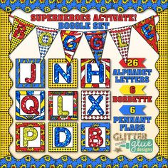 Browse over educational resources created by Glitter Meets Glue in the official Teachers Pay Teachers store. Boggle Bulletin Board, Classroom Bulletin Boards, Superhero Classroom Theme, Classroom Themes, Close Reading Activities, Teaching Reading, Boggle Game, H Alphabet, Pennant Flags