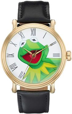 2123c0af60e3 Disney Disney s The Muppets Kermit the Frog Men s Leather Watch Kermit The  Frog