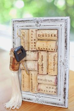 it would be cute on one of our shelves by the door Wine Cork Board- Delicate jewelry or key holder.