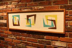 Mid Century / Danish Modern / TIKI / WITCO Styled Abstract Wall Art. $275.00, via Etsy.