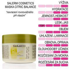Salerm Citric Balance maska na barvené vlasy pH 250 ml Cosmetics
