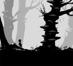 Shadow Puppet / Silhouette / Vector style video game - Limbo