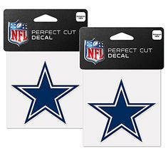 Dallas Cowboys NFL 4 x 4 Decals  2 Pack *** Want additional info? Click on the image.