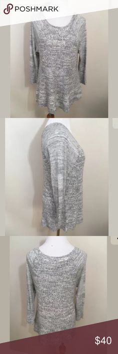 """NWOT Lucky Brand Gray Knit Sweater Tunic Medium NWOT Lucky Brand Gray Knit Sweater Tunic Medium. In new condition! Soft and Flowy. The sleeves are like a tshirt fabric and the main body and cuffs are a thick knit sweater like. Clean and comes from smoke free home. Questions welcomed! Armpit to armpit: 17"""" across Sleeve length approx.: 19""""  Length: 25"""" Lucky Brand Tops"""