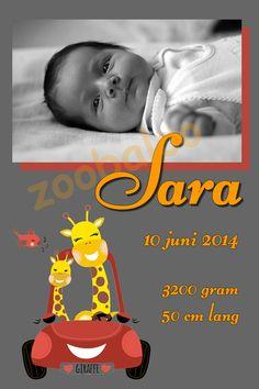 Geboorte canvassen naar eigen wens te bestellen bij zoobaloo.nl  Mailt u ons uw wens, fotos etc, en dan gaan we er samen wat moois van maken. Giraffe, Movies, Movie Posters, Art, Art Background, Felt Giraffe, Films, Film Poster, Kunst