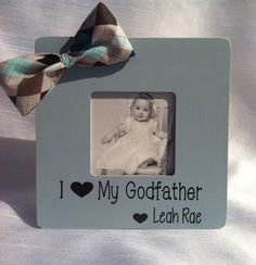 godfather gift godfather frame godparent gift baptism gift personalized godfather picture frame i love my godfather 4x6