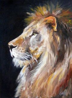 Oil painting Source by svetlovakatrin Lion Painting, Painting & Drawing, Watercolor Paintings, Painting Abstract, Acrylic Painting Animals, Cool Paintings, Animal Paintings, Lion Art, Wildlife Art
