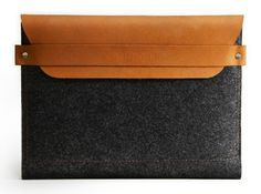 Soft, strong and renewable, felt is the ideal material for housing his tablet. This sleeve's separate compartment for documents and earplugs makes it extra functional, and the leather detailing (hand-dyed with earth-friendly dyes) makes it a case he'll want to show off. Mujjo iPad Sleeve, $55.72,