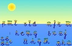 """""""Islas y estrellas"""", de Educalandia, trabaja el reconocimiento de las letras del abecedario mediante atractivas tareas (rompecabezas, laberinto, etc.), relacionando grafías y sonido, tanto en vocales como en consonantes. Para niños de 5 a 7 años."""