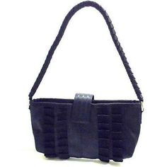 Handmade from reclaimed car seat belts, this elegant bag is 12 inches wide by 6 inches tall. Lined in reclaimed denim fabric, the bag has an interior zip pocket, a zipper closure, and a single braided seat belt strap. Handbags On Sale, Tote Handbags, Unique Handbags, Handmade Handbags, Beautiful Handbags, Black Clutch, Denim Fabric, Clutch Purse, Fashion Handbags