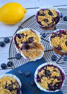 Havermout muffins met bosbessen - Laura's Bakery