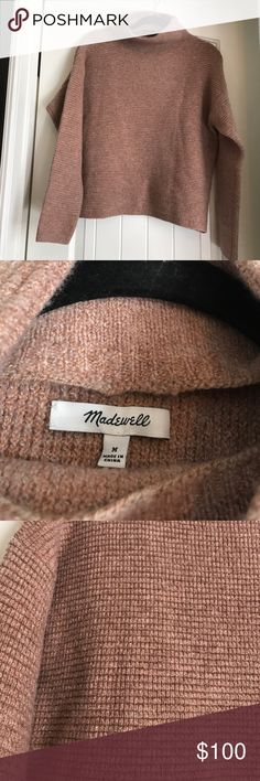 Madewell Southfield mock neck sweater mauve In new condition. Could work for a size small Madewell Sweaters Cowl & Turtlenecks