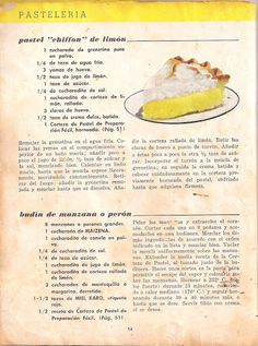 Recetario Maicena - Piper Pérez - Álbumes web de Picasa Köstliche Desserts, Delicious Desserts, Dessert Recipes, Yummy Food, Vintage Cooking, Vintage Recipes, Christmas Treats, Bakery, Sweet Treats