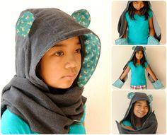 hoodie scarf with ears