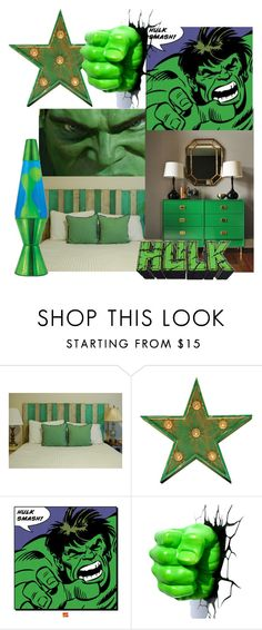 """""""Hulk Bedroom"""" by childofgod-97 ❤ liked on Polyvore featuring interior, interiors, interior design, home, home decor, interior decorating, Argent and Sable, Lava and bedroom"""