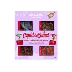Cupid & Comet 4 Course Meal Cat Treats The Pet Warehouse Christmas Animals, Christmas Cats, Christmas Gift For You, Christmas Presents, Course Meal, Home Learning, Pet Treats, Cupid