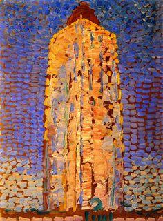"lonequixote: "" Lighthouse at Westkapelle ~ Piet Mondrian """