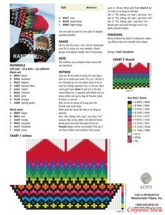 * Яркие варежки. Knitting Charts, Knitting Stitches, Knitting Patterns, Free Knitting, Knitted Mittens Pattern, Knitted Gloves, Tapestry Crochet, Ideas, Mittens