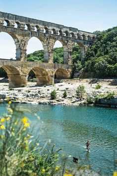 Pont du Gard, Roman aqueduct near Nimes, France Nimes France, Provence France, Best Vacation Destinations, Best Vacations, Places To Travel, Places To See, Pont Du Gard, Destination Voyage, South Of France