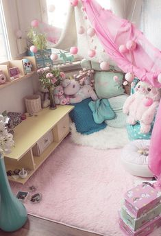 Nice D?coration Chambre Kawaii that you must know, You?re in good company if you? Girl Bedroom Designs, Girls Bedroom, Bedroom Decor, Bedroom Ideas, Cute Room Decor, Kawaii Bedroom, Otaku Room, Pastel Room, Decorating Rooms