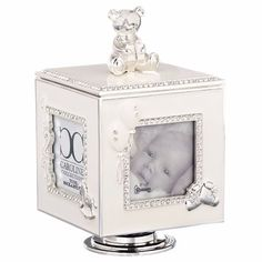Musical Baby Photo Holder With Bear Plays Rock A Bye Baby