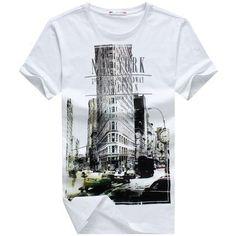 Routine Sleeve Style Casual T-Shirt For Men. #Mentshirt #ShopOnline #MehdiGinger