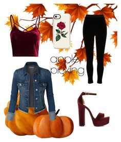 A fashion look from October 2017 featuring fitted jean jacket, high rise trousers and open toe heel sandals. Browse and shop related looks. Casetify, River Island, Steve Madden, Fall Outfits, Outfit Ideas, Trousers, Fashion Looks, Heels, Polyvore