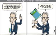 Charge do Lute sobre o processo de Cunha (30/06/2016). #Charge #Cunha #PMDB #Política #HojeEmDia