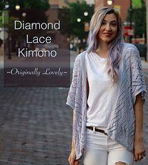 FREE pattern ~ Diamond Lace Kimono by Originally Lovely by Kaitlin Blasing