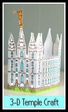 Primária SUD Online: Gravura 3-D do Templo de Salt Lake