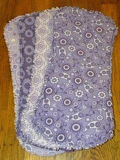 DIY Burp Cloths. This one looks SUPER easy!