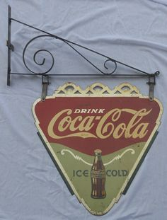 1936 Coca-Cola Triangle Sided Tin Sign