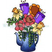 Coffee Pot Bouquet