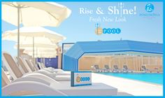 Rise & Shine Poseidonia Beach Hotel! A fresh New Look around our #Trident #PoolBar... Poseidonia Beach Hotel is now open under a New Management...