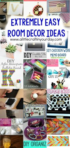 Extremely Easy Room Decor Ideas - A Little Craft In Your Day