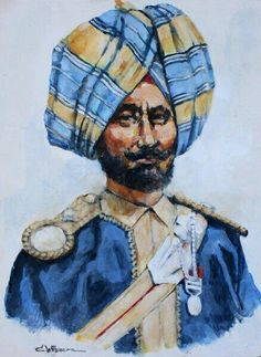 British; 11th Bengal Lancers, Sikh Jemadar c.1900  | Sikhpoint.com    #sikhpoint