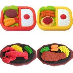 4 Large Bento Box Lunch Dinner Steak Lobster Erasers Japanese IWAKO by IWAKO. $8.73. DINNER ERASERS