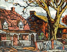 Sainte-Rose (1937) - Marc-Aurèle Fortin Canadian Painters, Canadian Artists, Nocturne, National Art, Z Arts, Old Paintings, Objet D'art, Museum Of Fine Arts