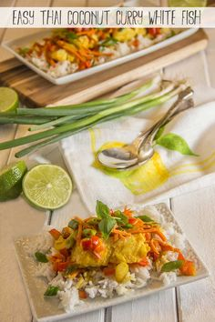 Easy Thai White Fish with Coconut Curry. I substituted and used coconut oil and this was delicious. I used grouper but any white fish would work.