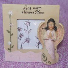 "Angels ""Love Makes a House a Home"" Photo Frame $14.00 www.newagecave.com"