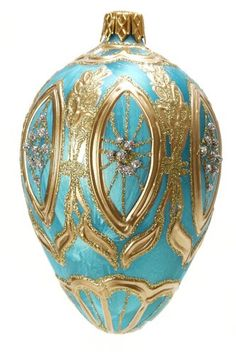 Museum Collection Fabergé Siberian Ice Egg Glass Ornament