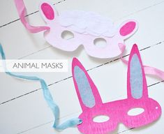 DIY animal masks made by Marichelle of Lifeflix, using a tutorial from Bloesem Kids: http://tinyurl.com/7ur967s
