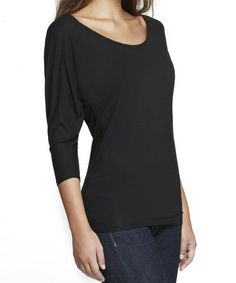 Look at this #zulilyfind! Black Shaper Dolman Top - Women & Plus #zulilyfinds