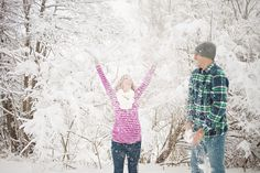 love all the snowy looking pics with them throwing snow or snow falling around them