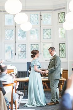 Bride wears a Pale Green Gown | Photography by http://www.weddings.leegarland.co.uk/