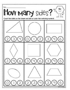 FREE GEOMETRY WORKSHEETS - Color by sides plus many more. | Math ...